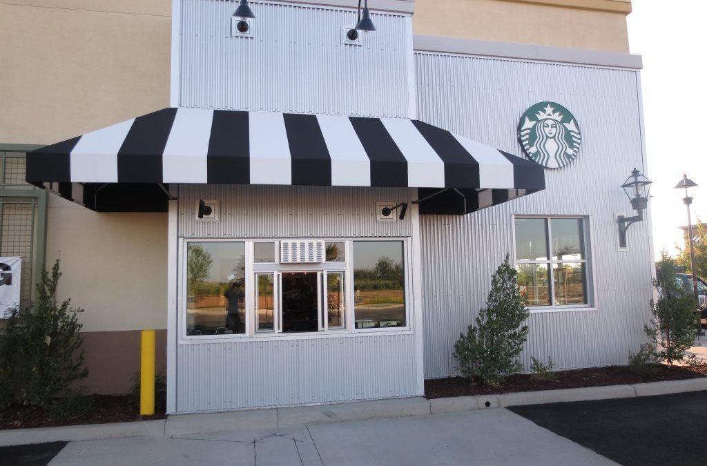 Starbucks drive thru window tint