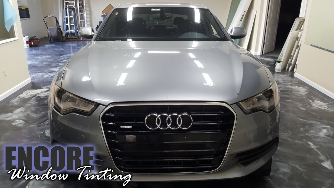 2014 Audi A6 Picture of clear bra on hood after installation. whole front end view
