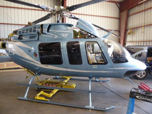 Window Tinting on a Bell Helicopter