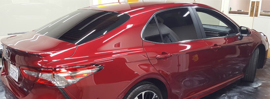 Encore window tinting on a 2018 Toyota Camry