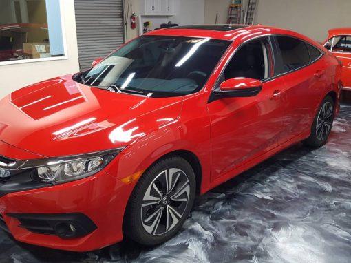 2017 Honda Civic Clear Bra and Window Tint