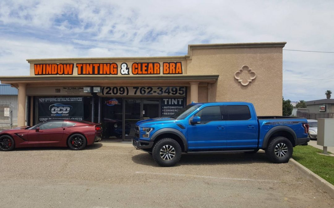 2019 Ford Raptor Standard package clear bra window tint