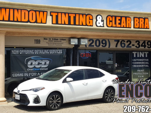 Automotive window tinting – 2019 Toyota Corolla White