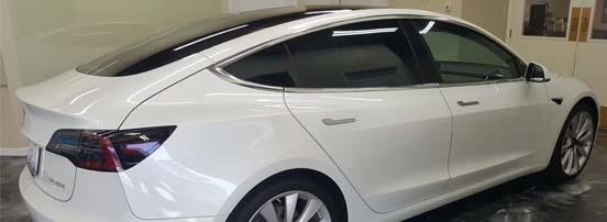 2020 Tesla model x tinted window tintint